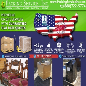 Wrapping Chairs, Palletize and Shipping from NM-ID